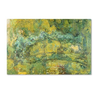 Claude Monet 'Passage On Waterlily Pond 1919' Canvas Art