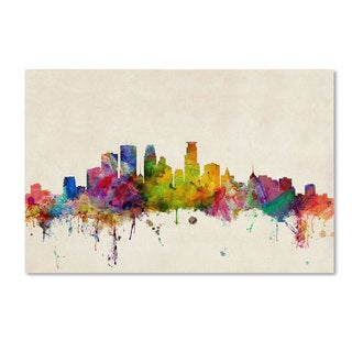 Michael Tompsett 'Minneapolis, Minnesota' Canvas Art