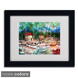 Manor Shadian 'Lahaina Boats' Framed Matted Art