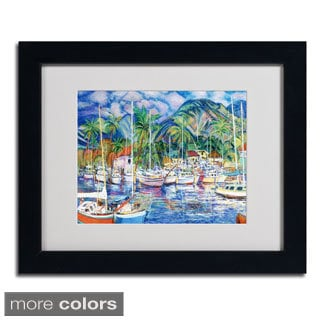 Manor Shadian 'Lahaina Marina' Framed Matted Art