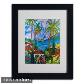Manor Shadian 'Tropical Paradise' Framed Matted Art