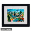 Manor Shadian 'Valley House' Framed Matted Art