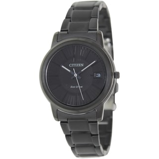 Citizen Women's Eco-Drive Black Ceramic Bracelet Black Dial Watch