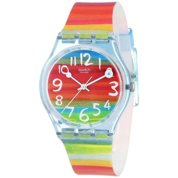 Swatch Women's Originals GS124 Multicolored Rubber Multicolored Dial Quartz Watch
