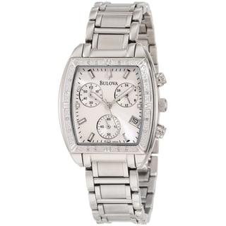 Bulova Women's 96R163 Diamond Silvertone Bracelet Silvertone Dial Watch