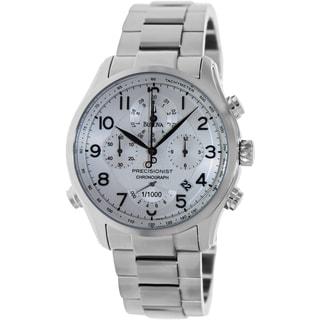 Bulova Men's Precisionist Silvertone Bracelet Silvertone Dial Watch