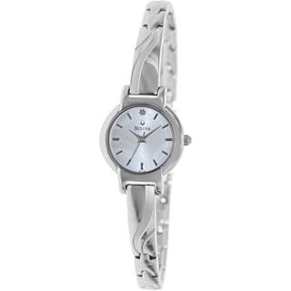 Bulova Women's Diamond Silvertone Dial Watch