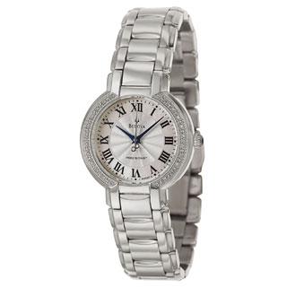 Bulova Women's 96R167 Fairlawn Silvertone Bracelet Mother-Of-Pearl Dial Watch