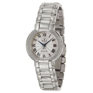 Bulova Women's Fairlawn 96R167 Silver Stainless-Steel Analog Quartz Watch with Mother-Of-Pearl Dial