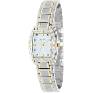 Bulova Women's 98R159 Highbridge Two-Tone Bracelet White Dial Watch