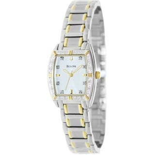 Bulova Women's Highbridge Two-Tone Bracelet White Dial Watch