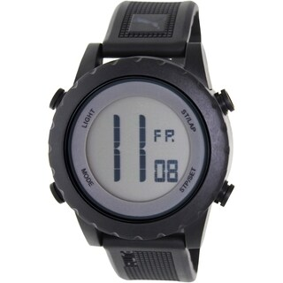 Puma Men's Splash Black Rubber Strap Digital Dial Quartz Watch