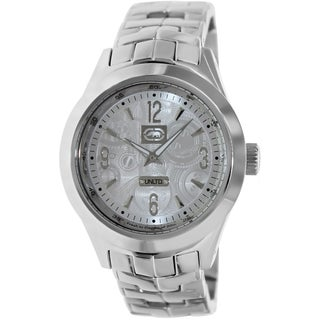 Marc Ecko Men's The King E15064G2 Silver Stainless Steel and Silver Dial Quartz Watch