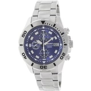 Seiko Men's Silvertone Bracelet Blue Dial Watch