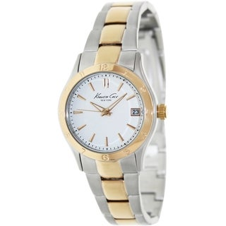 Kenneth Cole Women's Modern Core Two-Tone Bracelet White Dial Watch