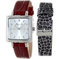 Kenneth Cole Women's KC6063 Red Leather Quartz Watch with Silver Dial