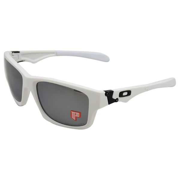 OO9135-08 Jupiter Squared - Matte White/Black Iridium Polarized by Oakley for Men - 56-18-131 mm Sunglasses