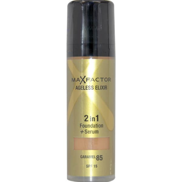 Max Factor Ageless Elixir 2in1 Foundation + Serum SPF 15 # 85 Caramel