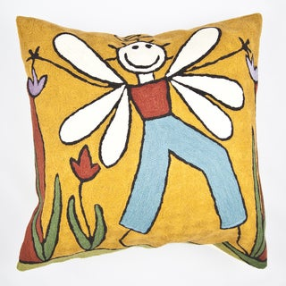 Boy Angel Multi-colored Throw Pillow Cover(India)
