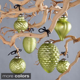 Fiona Handmade Glass Ornaments Unique Shapes (Set of 6)