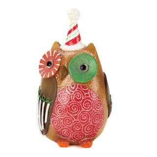 Colorful Sweet Holiday Owl Decor