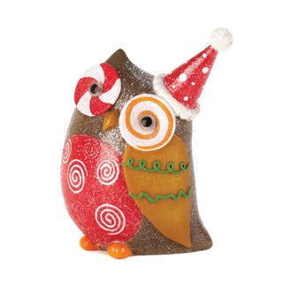 Colorful Sparkly Holiday Owl Decor