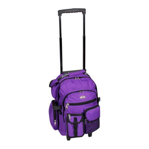 Everest Deluxe Wheeled Backpack Dark Purple