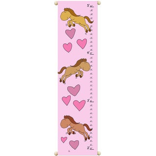 Girls Canvas Growth Chart in Horses