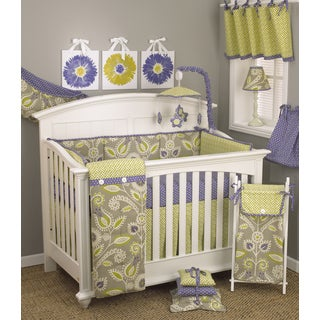 Cotton Tale Periwinkle 7-piece Crib Bedding Set