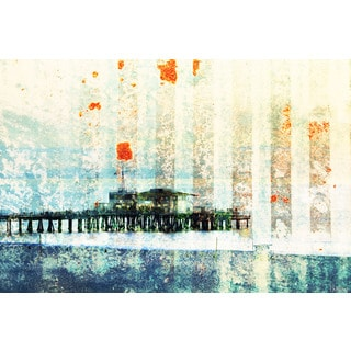Parvez Taj 'Santa Monica Pier' Canvas Art