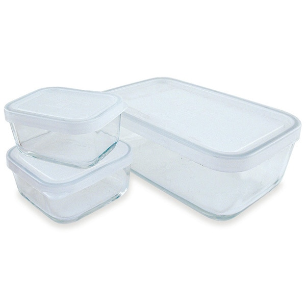 Storage Dishes with Clear Lids - Set of 3
