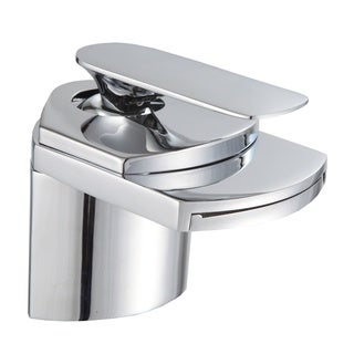 Gallery Bathroom Sink Chrome Waterfall Faucet