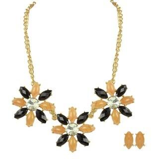 Kate Marie Goldtone Fashion Necklace and Earrings Set