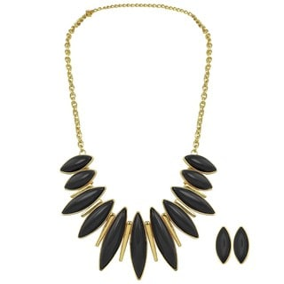 Kate Marie Goldtone Radiant Fashion Necklace and Earrings Set