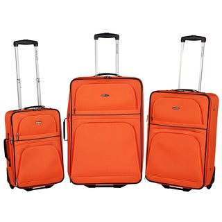 Pierre Cardin Bloomfield Collection 3-piece Expandable Luggage Set