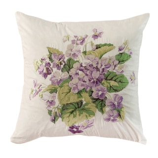 Waverly Sweet Violets 16-inch Embroidered Accent Pillow