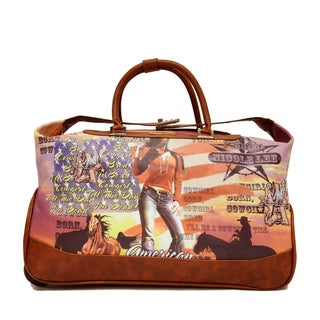 Nicole Lee Teresa 'Cowgirl' Carry On Rolling Upright Duffel With Laptop Compartment