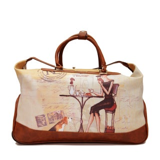 Nicole Lee Special Print Edition Carry On Rolling Upright Duffel With Laptop Compartment,