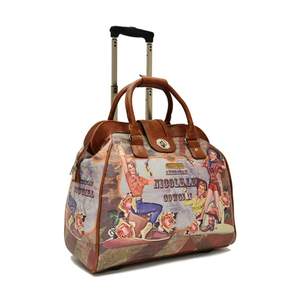 Nicole Lee Special Print Edition Carry On Rolling Upright Handbag Tote