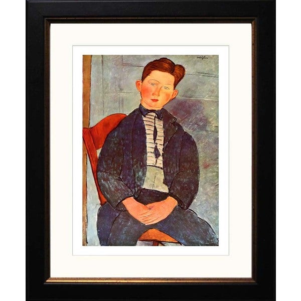 Amedeo Modigliani 'Boy with Pink Shirt' Framed Giclee
