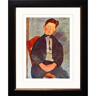 Amedeo Modigliani 'Boy with Pink Shirt' Framed Giclee