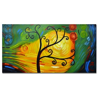 Hand Painted Vivid Colors Abstract Tree Art