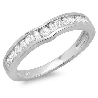 14k White Gold 1/2ct TDW Diamond Ring (H-I, I1-I2)