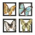 Assorted Butterfly Theme Metal Wall Decor (Set of 4)