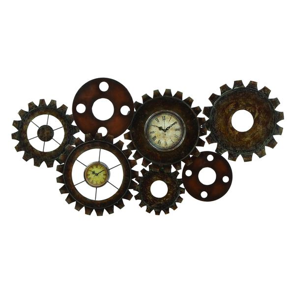 Gear wall art home decor steampunk gear art on - Wall picture clock decoration ...
