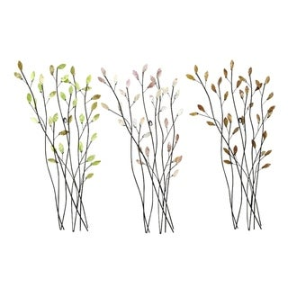 Assorted Twig Shape Metal Wall Decor (Set of 3)