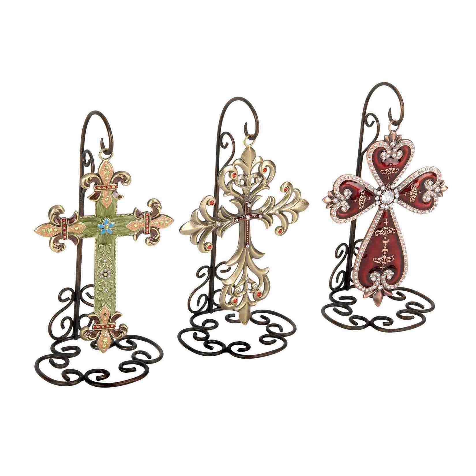 Assorted Metal Cross Wall Decor Set Of 3 On Popscreen