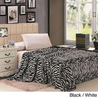 Zebra Striped Throw Blanket