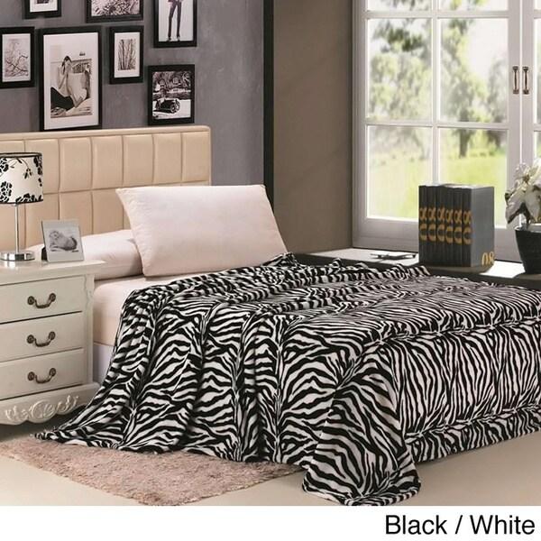 Zebra Striped Throw Blanket