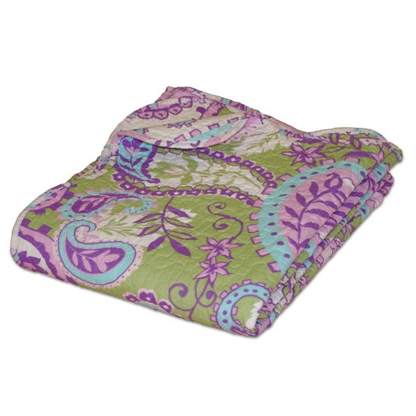 Greenland Home Fashions Portia Paisley Quilted Throw